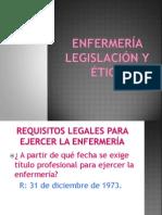 Enfermería legislación y ética