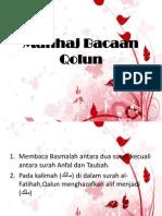 Manhaj Bacaan Qolun