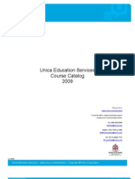 UnicaEducation-Course Catalog 2009 Final