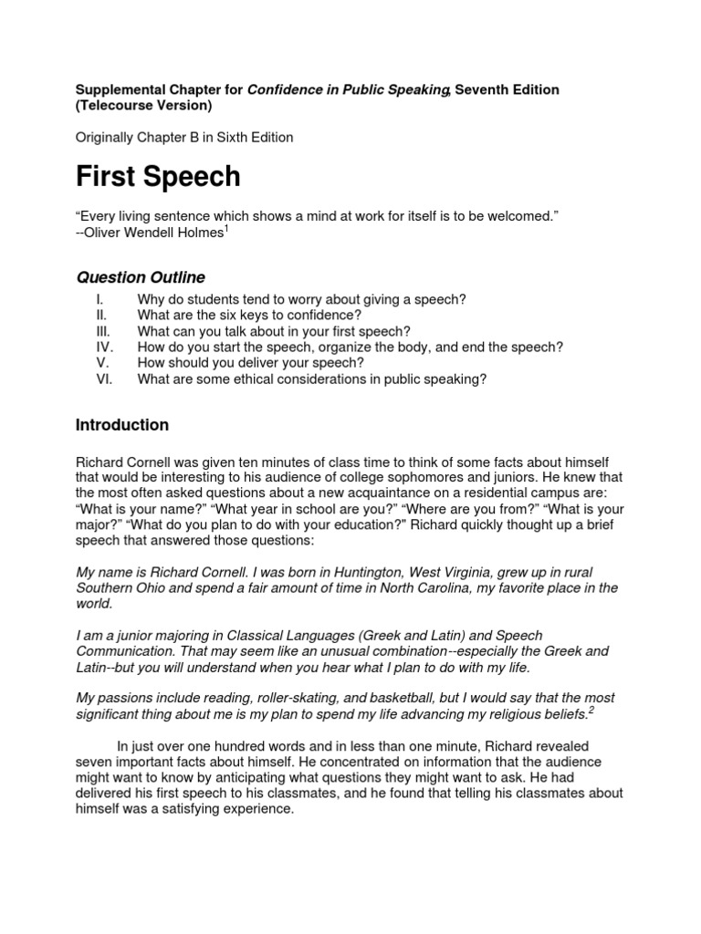 Self introduction speech template sample essay about myself my self intro format public speaking classroom thecheapjerseys Image collections
