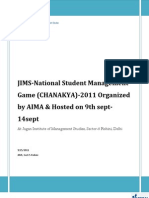 JIMS National Student Management Game- Chanakya-2011organized by AIMA