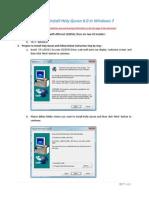 How to Install HolyQuran 8 in Windows 7