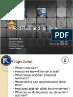Acid Rain and Its Impact