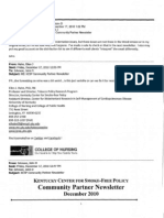 Kentucky Center for Smoke-Free Policy E-Mails Part 7