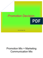 Promotion Mix Strategy