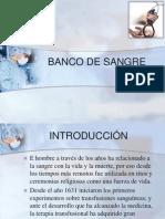 Banco de Sangre-generalidades
