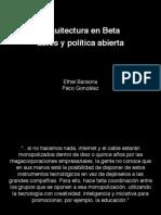 ArqBeta S08 Datos y Politica Abierta