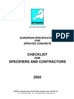 Checklist for Concrete Workd