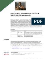Cisco DCN Solution in SONET/SDH Environment
