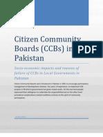 Citizen Community Boards in Pakistan