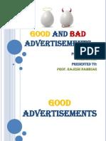 Egg Good and Bad Advertisements
