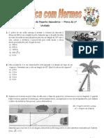 Exercícios de revisão de Desenho Geométrico