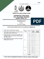 Trial Mate Spm Perak 2011 Paper 2