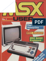 MSX User - Issue 1 - Aug 1984