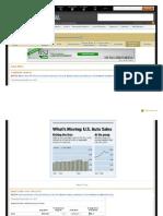 US Car Sales in August,2011