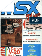 MSX User - Vol 1 No 2 - Jan 1985
