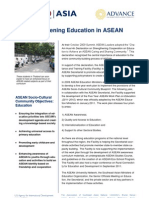 Strengthening Education in ASEAN