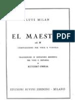 Milan - El Maestro - II Vihuela e Voce