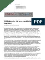 IM Erika Oder Die Neue, Unsichtbare Macht Der Stasi