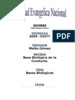 Bases Biologic As de La Conducta