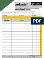 Andante Spons Form 1