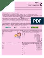 PROVA DA OBMEP 2011 ENSINO FUNDAMENTAL nível 2