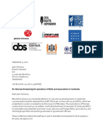 Joint Letter to ILO Cambodia Draft Law Sept2011