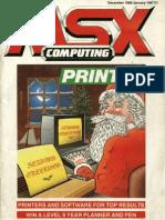 MSX Computing - Dec 1986-Jan 1987