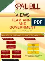 Diff Between Jan Lokpal and Govt. Lokpal