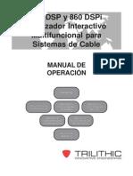 860 DSP & 860 DSPi Manual Español De la Operación v9-07 (PN0010218005)