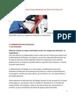 ADMINISTRACIÓN DE RIESGOS PARA EMPRESAS DE SERVICIOS PÚBLICOS DOMICILIARIOS