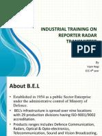 Industrial Training on Reporter Radar Transmitter