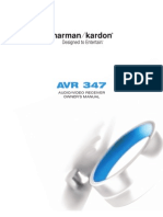 Harman Kardon AVR347 Manual