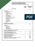 List of Undergraduate Programmes