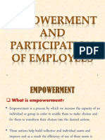 Empowerment and Participation of Employees