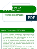Las teorías de Localización - Walter Christaller