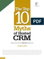 10 Myths of Hosted CRM Whitepaper