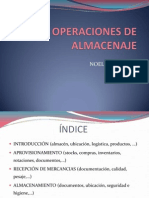 OPERACIONES DE ALMACENAJE
