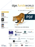 Hedge Funds World Asia 2003