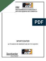 MANUAL DE PROCEDIMIENTOS SERVICIOS Y MANTENIMIENTO DE EQUIPOS DE CÓMPUTO