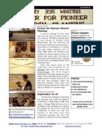 September 2011 Prayer update