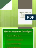 Urgencias en oncología pediátrica
