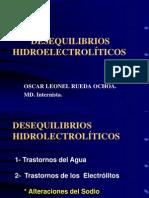 Desequilibrios hidroelectroliticos