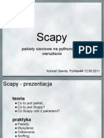Scapy - pakiety sieciowe na pythonowym warsztacie