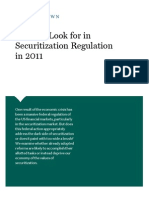 What to Look for in Securitization Regulation in 2011
