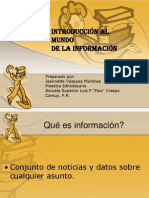 Introducción al mundo de la informacion