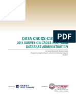 Data Cross Currents 2011 Survey on Cross Platform Database Administration