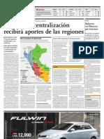 Plan de descentralización recibirá aportes de las regiones