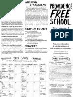 Providence Free School September-October 2011 calendar