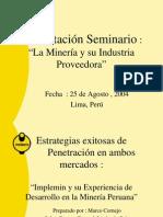 Seminario Mineria Peru Cornejo